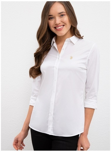 U.S. Polo Assn. U.S. Polo Assn. Slim Fit Beyaz Gömlek Beyaz